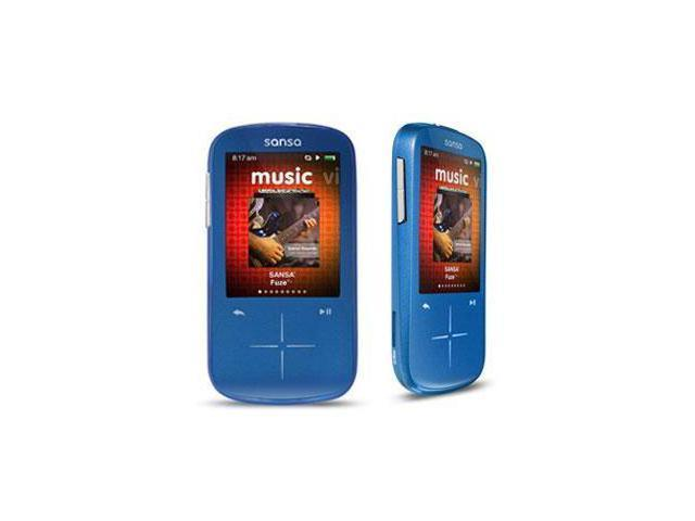 "SanDisk Sansa Fuze+ 2.4"" Blue 8GB MP3 / MP4 Player SDMX20R-008GB-A57"