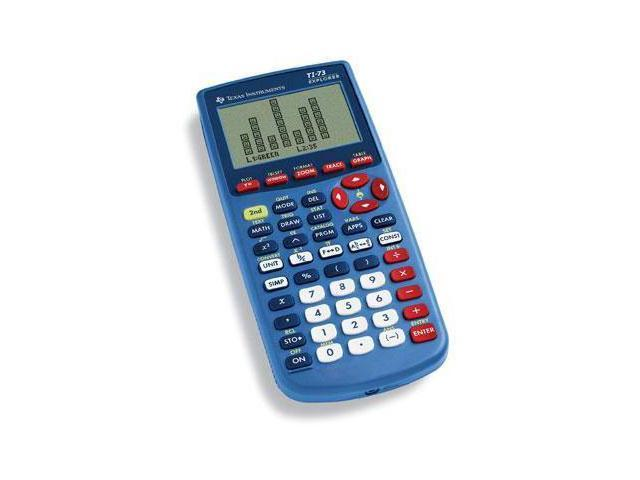 Texas Instruments Explorer TI-73 ViewScreen Graphing Calculator - 16 Digit(s) - LCD - Battery Powered - Blue