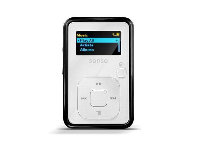 "SanDisk Sansa Clip+ 1.0"" White 4GB MP3 Player SDMX18R-004GW-A57"