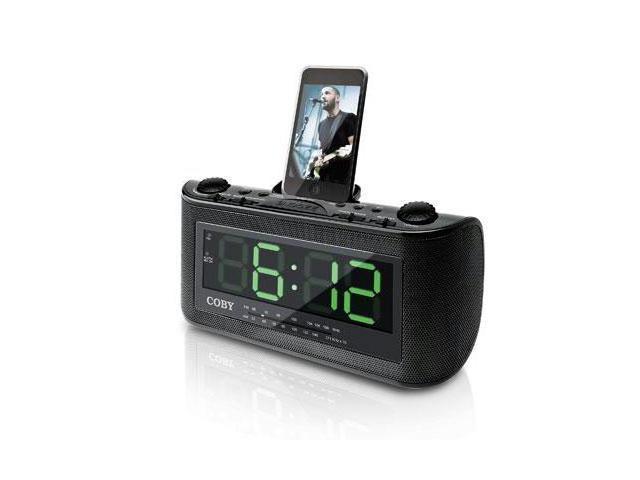 coby electronics csmp120 alarm clock radio for ipod. Black Bedroom Furniture Sets. Home Design Ideas