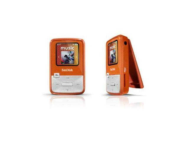 "SanDisk Sansa Clip Zip 1.1"" Orange 4GB MP3 Player SDMX22-004G-A57O"