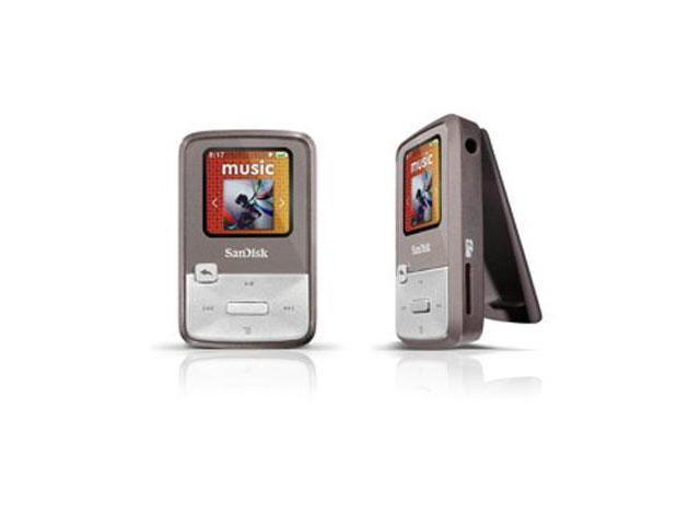 "SanDisk Sansa Clip Zip 1.1"" Gray 4GB MP3 Player SDMX22-004G-A57G"