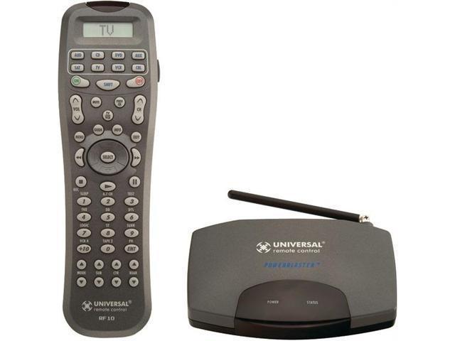 UNIVERSAL REMOTE URC-RFS200 Universal remote urc-rfs200 10 device remote & powerblaster(tm) rf bundle