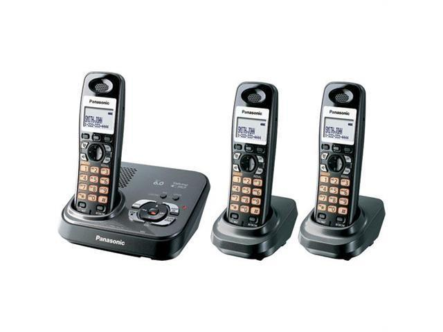 Panasonic KX-TG9333T 1.9 GHz Digital DECT 6.0 3X Handsets Expandable Digital Cordless Phone Integrated Answering Machine