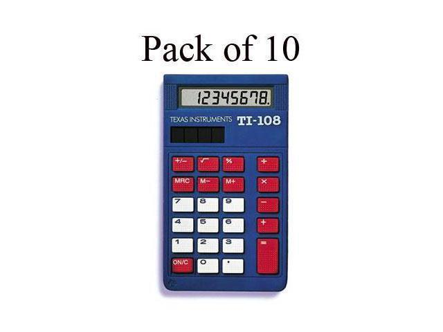 Texas Instruments TI-108 Simple Calculator - 8 Digit(s) - LCD