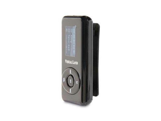 Visual Land V-Clip Pro Black 4GB MP3 Player ME-963