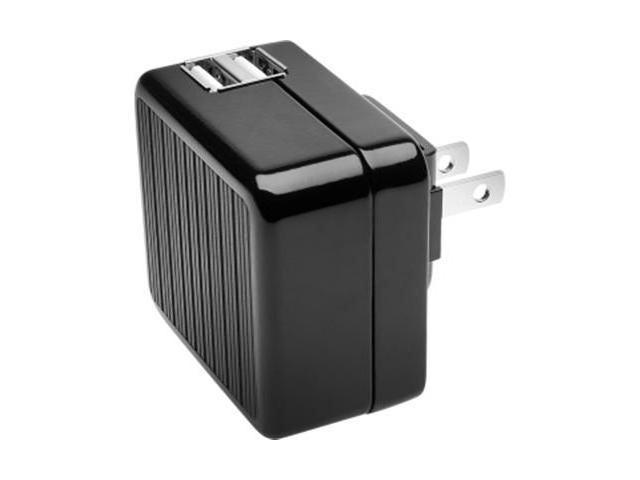 Kensington K39373US AbsolutePower Dual USB Wall Charger with USB Adapters