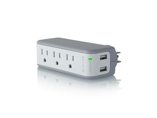 BELKIN BZ103050-TVL Mini Surge Protctor With USB Charger