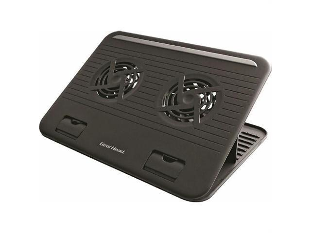 Gear Head CFS4200BLK-CP4 Gear head black 15 6 dual-cool notebook cooling stand