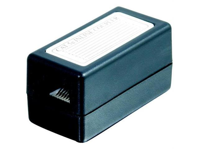 Cat5e Rj45 Modular Inline Coupler - Black
