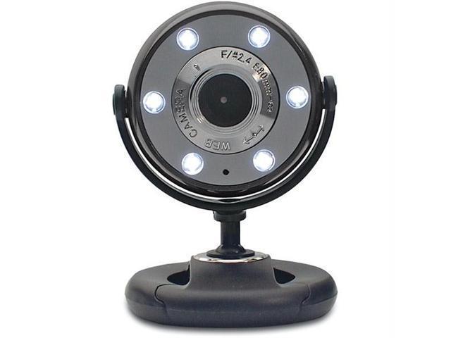 Gear Head WC1300BLK-CP10 Gear head piano black/black 1 3mp webcam with night vision