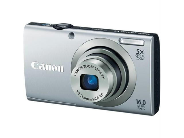Canon PowerShot A2300 Silver 16.0 MP 28mm Wide Angle Digital Camera