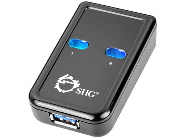 SIIG Accessory JU-SW0012-S1 SuperSpeed USB 3.0 Switch 2-to-1