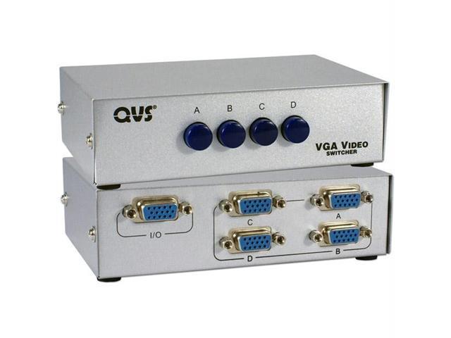 QVS CA298-4P Qvs 4-port hd15 vga/sxga manual switch