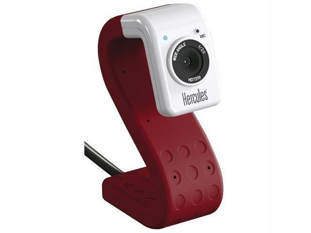 HERCULES 4780731 Hercules 4780731 hd twist 5 0 megapixel 720p high-definition mini web cam (red)
