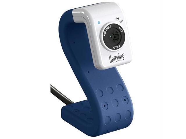 HERCULES 4780734 Hercules 4780734 hd twist 5 0 megapixel 720p high-definition mini web cam (cobalt)