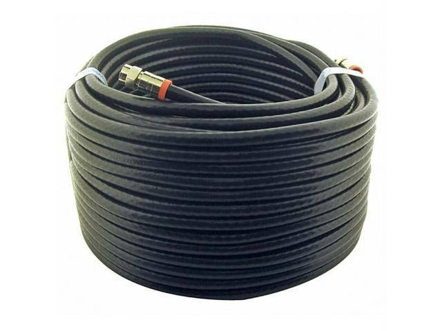 Steren BL-215-450BK Steren 50' black rg6 ul coaxial cable assembly