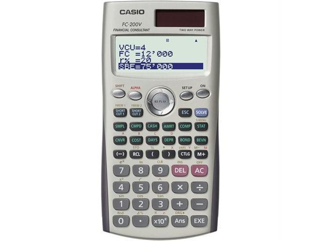Casio FC200V Casio 4-line display financial calculator