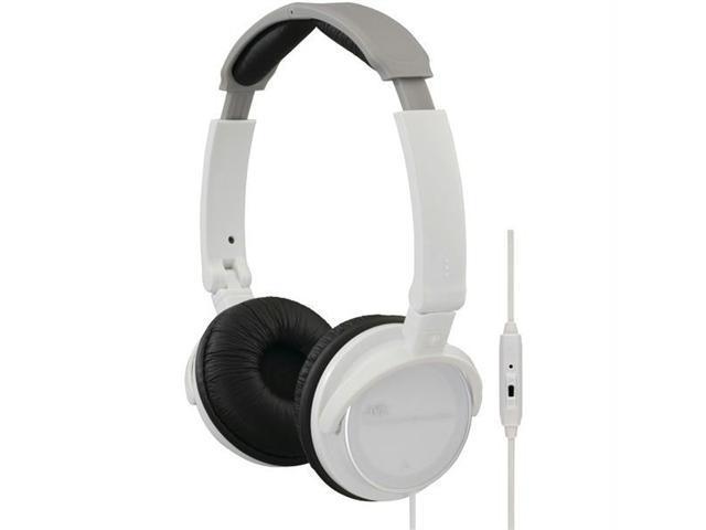 JVC HASR500W Jvc hasr500w on-ear headband headphones with remote & microphone (white)