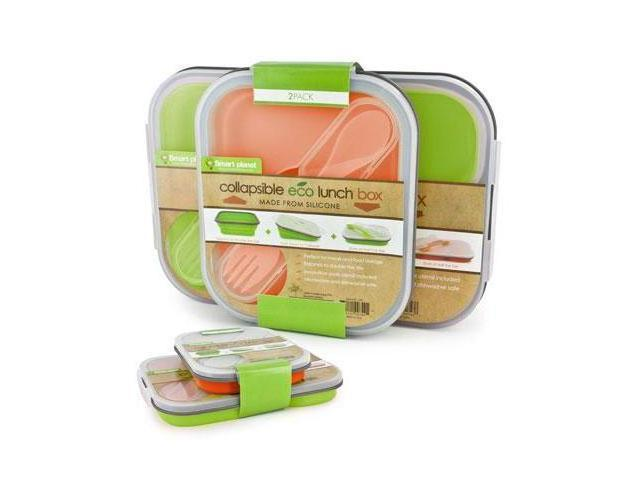 Smart Planet EC-34SLSET2 Eco Silicone Collapsible Lunch Box Set