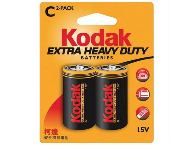 KODAK KEHDC2 EXTRA HEAVY-DUTY BATTERIES (C  2 PK)