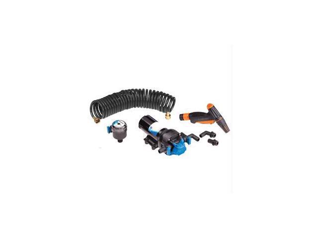 Jabsco HotShot Series Automatic Washdown Pump w/25' HoseCoil - 6.0GPM - 70psi -