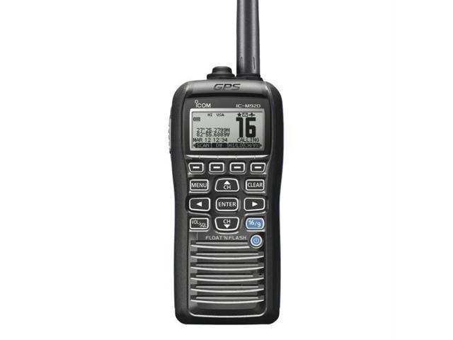 Icom M92D 01 Handheld VHF Marine Radio Float Æn Flash Technology