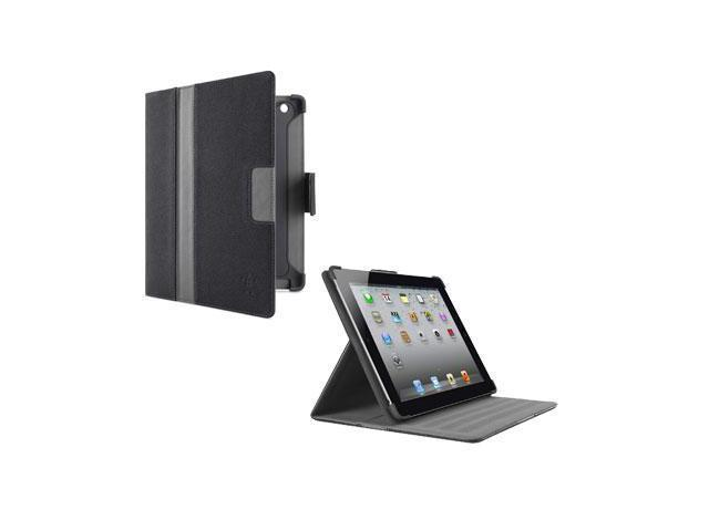 Belkin F8N753ttC01 Belkin Cinema Stripe Cover Case (Folio) for iPad Indigo, Gravel, Overcast