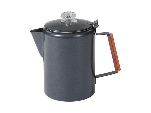 Stansport 276-9-20 Black Granite Percolator Coffee Pot - 9 Cup