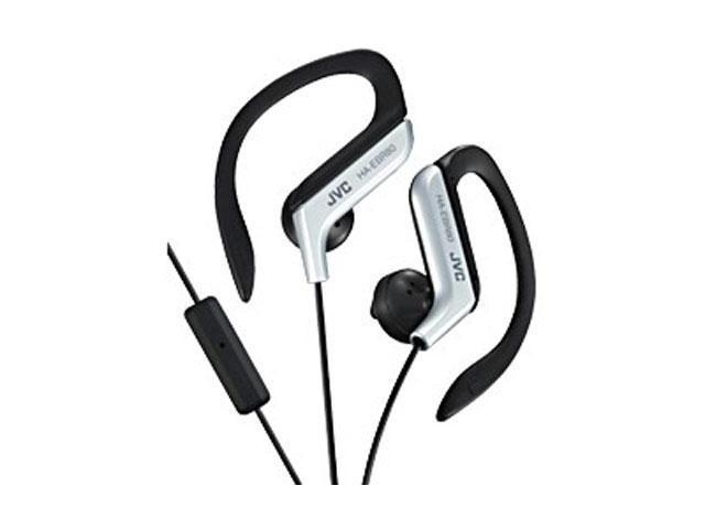 JVC HA-EBR80 Earset - Stereo - Silver - Wired - 16 Ohm - 16 Hz - 20 kHz - Gold Plated - Over-the-ear - Binaural - Open - 3.94 ft Cable