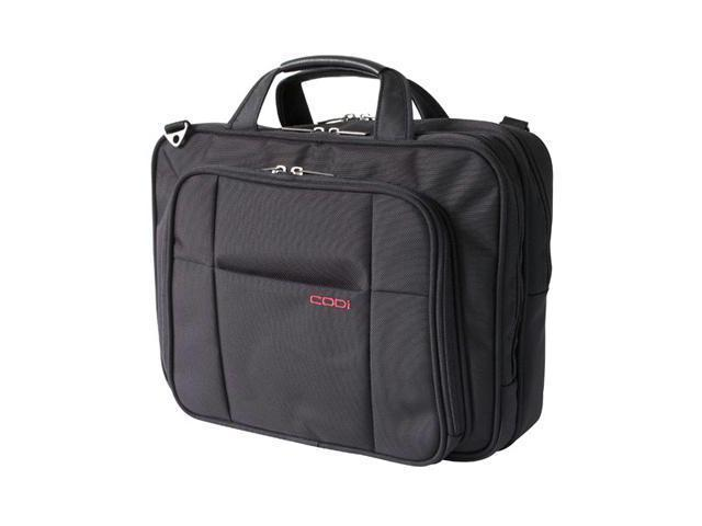 """Codi Riserva 15.6"""" Triple Compartment Case - Ballistic Nylon - Shoulder Strap, Handle, Trolley Strap"""