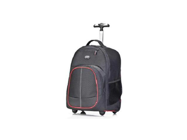 Compact Roller Backpack (Black,Red) 16 Inch