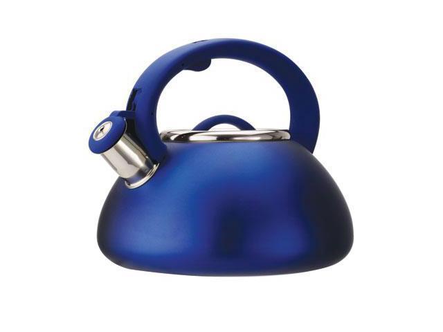 Primula Avalon 2.5 Qt Whistling Kettle - Matte Blue - 2.5 quart Kettle - Stainless Steel - Matte Blue