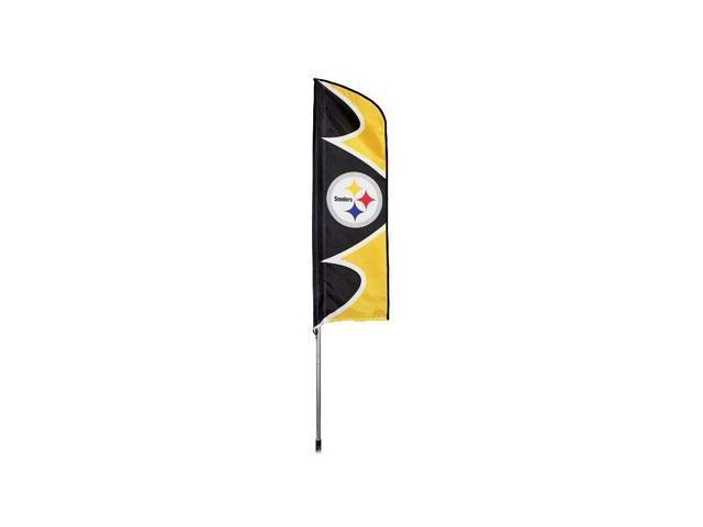 """Party Animal Steelers Swooper Flags - United States - Pennsylvania - 42"""" x 13"""" - Durable, Weather Resistant, UV Resistant, ..."""