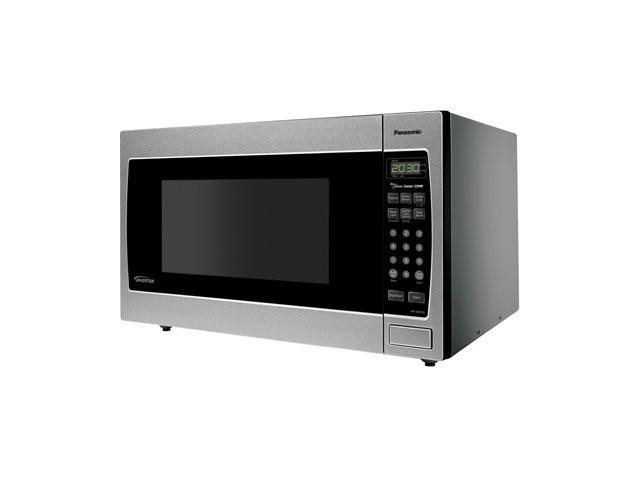 Panasonic 1250 Watts Full-Size 1.6 cu. ft. Genius Countertop / Built-in Microwave Oven with Inverter Technology NN-SN773S Sensor Cook Stainless Steel