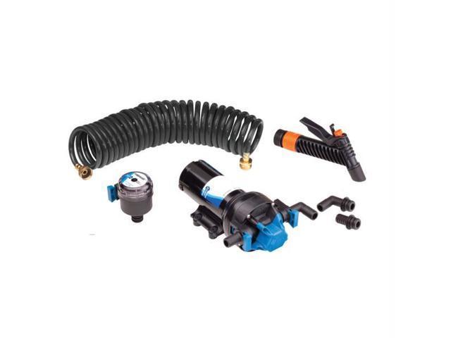 Jabsco Automatic Washdown Pump W/ Hosecoil 5.0Gpm 70Psi 12Vdc