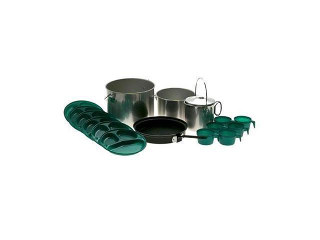 "Open Country Weekender Cook Ware - 2 gal Kettle, 10"" Diameter Frying Pan, 2 quart Coffee Pot, 8"" Diameter Plate, 8 fl oz ..."
