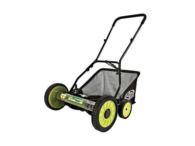Snow Joe Mow Joe 18-IN Manual Reel Mower with Grass Catcher - MJ501M - 18