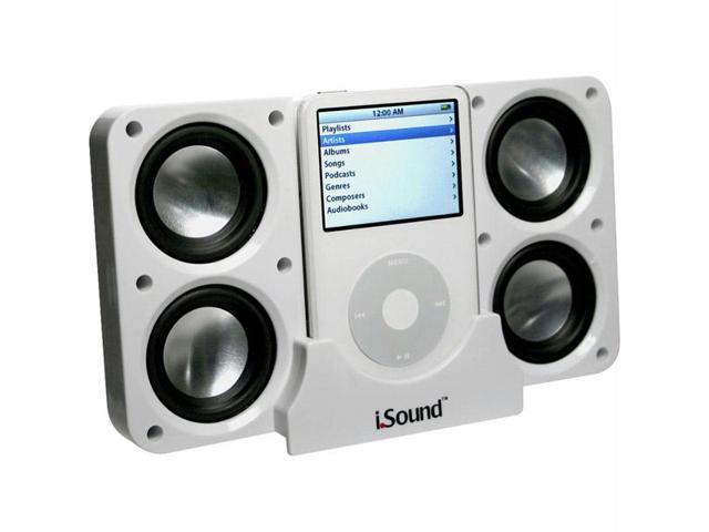 White Foldable 4x Portable Speaker System