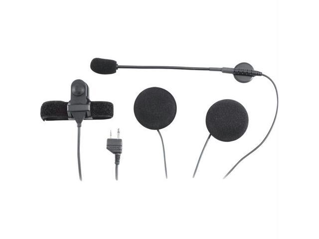 GMRS Motorcycle 2-Way Radio Headset Kit for Open Helmets