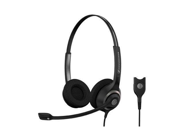 Sennheiser SC 260 Headset - Stereo - Black, Silver - Wired - 180 Ohm - 150 Hz - 6.80 kHz - Over-the-head - Binaural - Semi-open - 3.28 ft Cable - Noise Cancelling Microphone