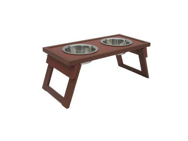 New Age Pet HiLo Raised Diner, Medium Russet - EHHF203M