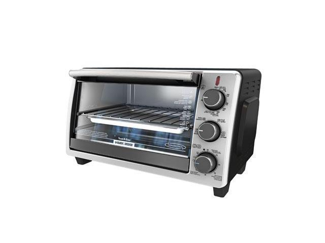 Black & Decker TO1950SBD Toaster Oven - 1350 W - Toast, Convection, Bake, Keep Warm, Broil - Black, Silver
