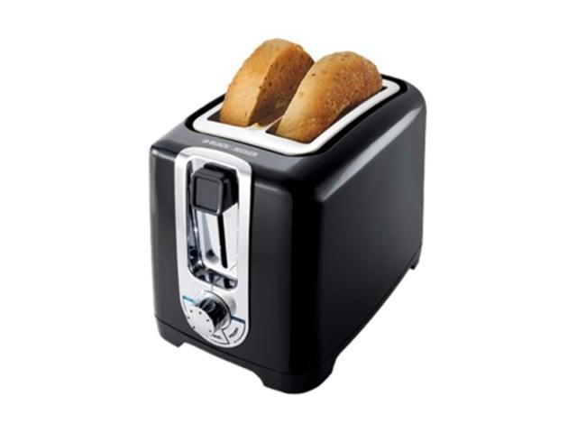 Black & Decker TR1256B Toaster - 850 W - Toast, Bagel, Defrost - Black