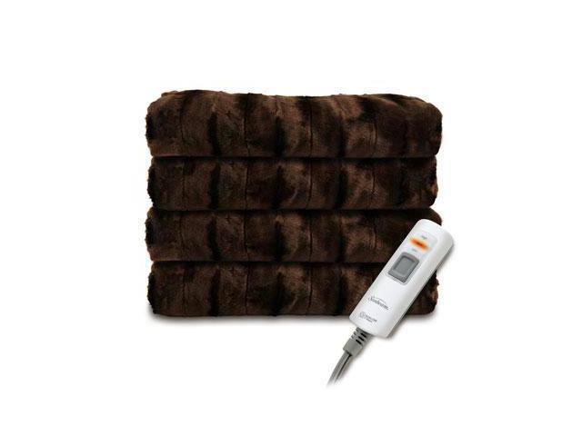 Sunbeam Faux Fur Heated Throw