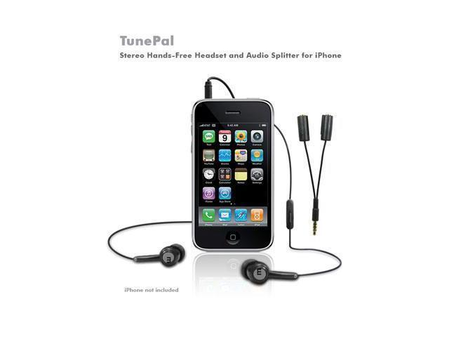 MacAlly TUNEPAL Headset and splitter Hands Free for Iphone
