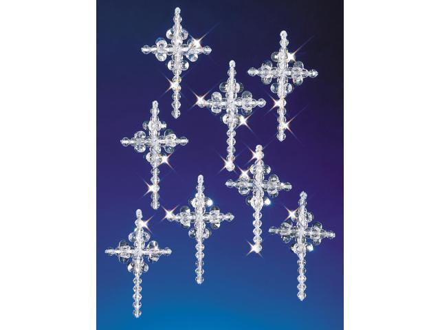 Holiday Beaded Ornament Kit-Crystal Crosses 2