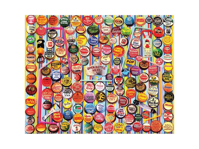 Soda Caps 1000 Piece Puzzle by White Mountain Puzzles