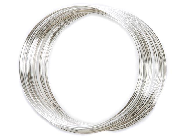 Memory Wire Large Bracelet .62mm .5oz-Silver Plated - 30 Coils
