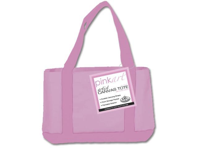 Pink Art Artist Canvas Tote-17